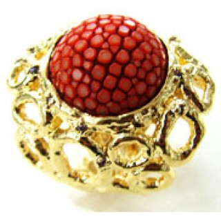 Circle Forest | Stingray Ring x Gold Micron | RED
