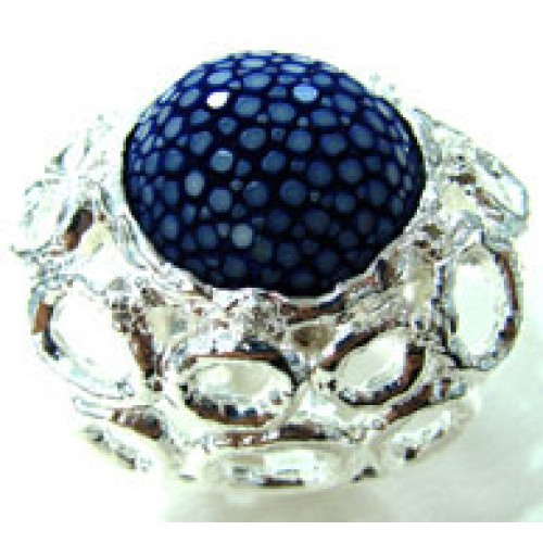 Circle Forest | Stingray Ring x Silver 92.5% | BLUE