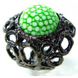 Circle Forest   Stingray Ring x Black Ruthenium   GREEN